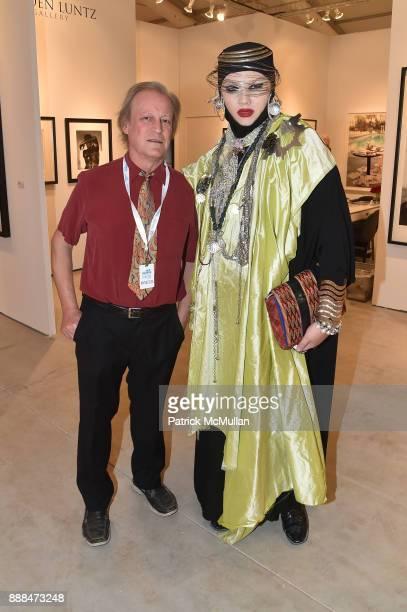 Patrick McMullan and Daniel Lismore attend Art Miami VIP Preview at Art Miami Pavilion on December 6 2017 in Miami Beach Florida