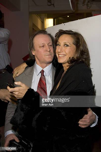 Patrick McMullan and Donna Karan during 'Kiss Kiss' Book Launch With Donna Karan at DKNY Madison Avenue Store in New York New York United States
