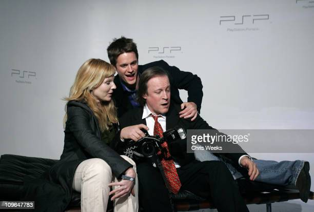 Patrick McMullan and guests during Sony Computer Entertainment America Brings Art to Life at the PSP Factory Inside at Hollywood Center Studios in...