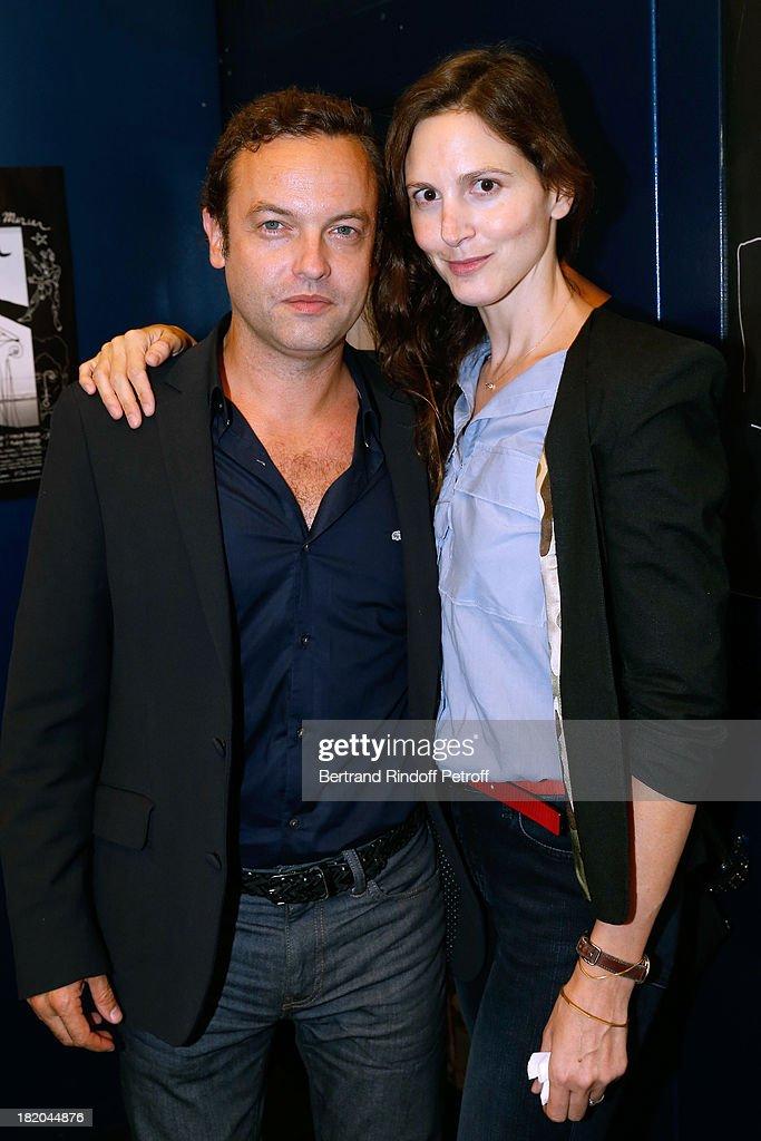 Patrick Millet and his wife Justine Levy attend 'Opium' movie Premiere, held at Cinema Saint Germain in Paris on September 27, 2013 in Paris, France.