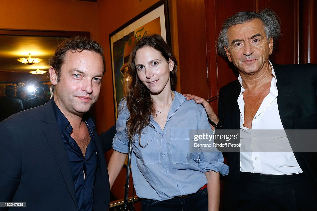 Patrick Millet , Justine Levy and Bernard Henri Levy attend the 'Opium' movie premiere, held at Cinema Saint Germain in Paris on September 27, 2013 in Paris, France.