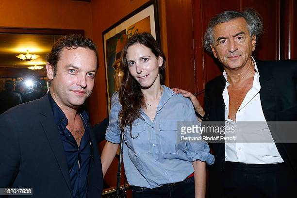 Patrick Millet Justine Levy and Bernard Henri Levy attend the 'Opium' movie premiere held at Cinema Saint Germain in Paris on September 27 2013 in...