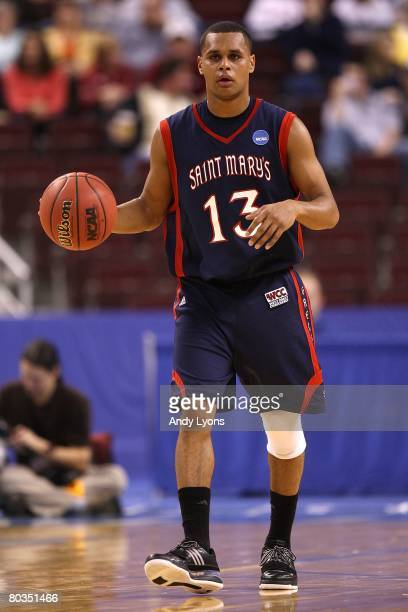 Patrick Mills of the Saint Mary's Gaels moves the ball against the Miami Hurricanes during the first round of the South Regional as part of the 2008...