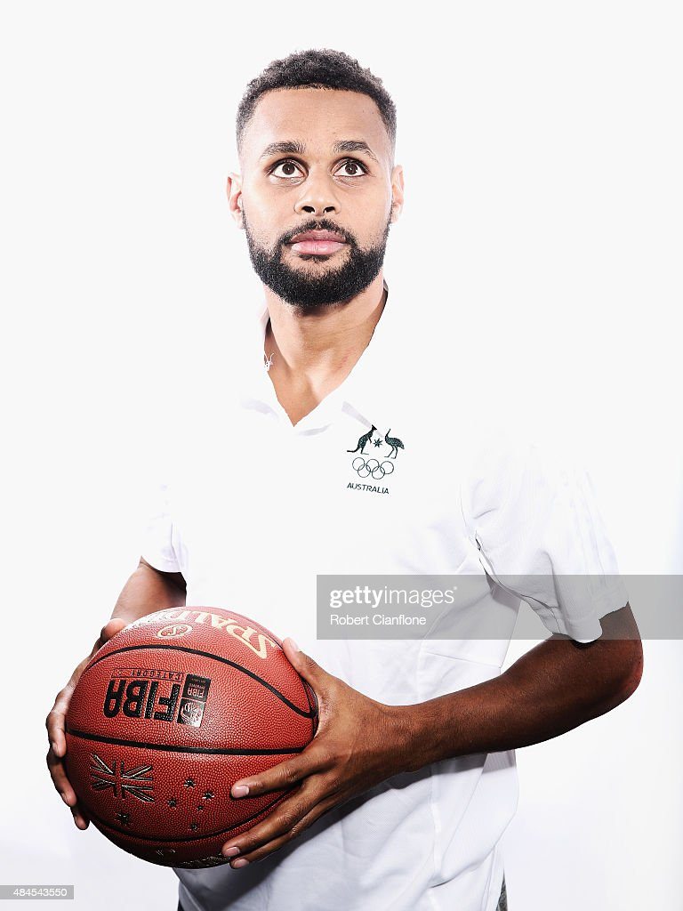 Patrick Mills poses during an Australian Boomers Basketball team portrait session at The Blackman Hotel on August 20, 2015 in Melbourne, Australia.