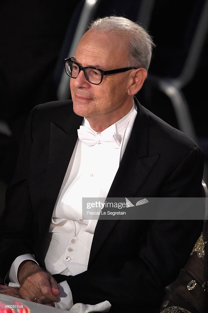 Patrick Modiano,laureate of the Nobel Prize in Literature attends the Nobel Prize Banquet 2014 at City Hall on December 10, 2014 in Stockholm, Sweden.