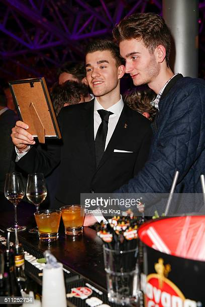 Patrick Moelleken and Maximilian Diehle attend the 99FireFilmAward 2016 at Admiralspalast on February 18 2016 in Berlin Germany