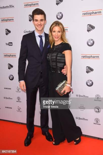 Patrick Moelleken and Nina Friederike Gnaedig attend the 99FireFilmsAward at Admiralspalast on February 16 2017 in Berlin Germany