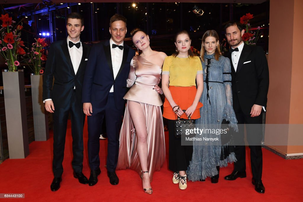 Patrick Moelleken, Tom Wlaschiha, Maria Dragus, Jella Haase, Aino Laberenz and Clemens Schick attend the 'Django' premiere during the 67th Berlinale International Film Festival Berlin at Berlinale Palace on February 9, 2017 in Berlin, Germany.