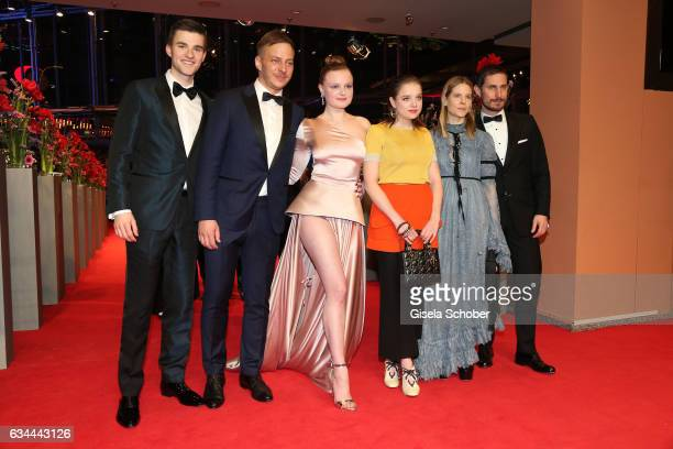 Patrick Moelleken Tom Wlaschiha Maria Dragus Jella Haase Aino Laberenz and Clemens Schick attend the 'Django' premiere during the 67th Berlinale...