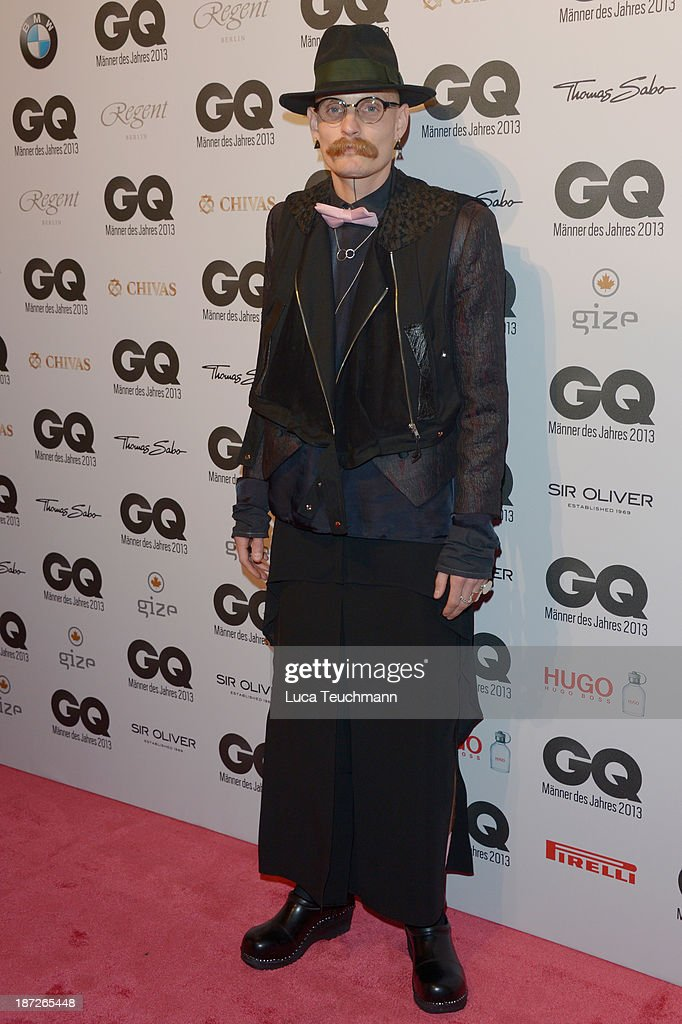 <a gi-track='captionPersonalityLinkClicked' href=/galleries/search?phrase=Patrick+Mohr&family=editorial&specificpeople=5952851 ng-click='$event.stopPropagation()'>Patrick Mohr</a> arrives at the GQ Men of the Year Award at Komische Oper on November 7, 2013 in Berlin, Germany.