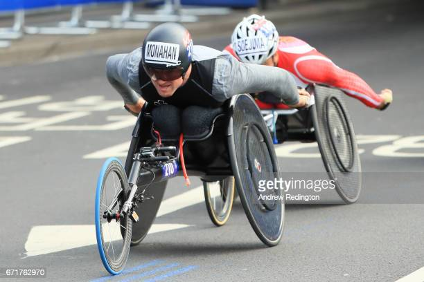 Patrick Monahan of Ireland competes during the Virgin Money London Marathon on April 23 2017 in London England