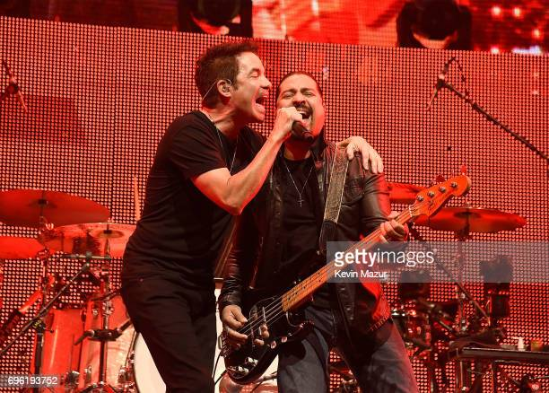 Patrick Monahan of Train performs at Northwell Health at Jones Beach Theater on June 14 2017 in Wantagh New York