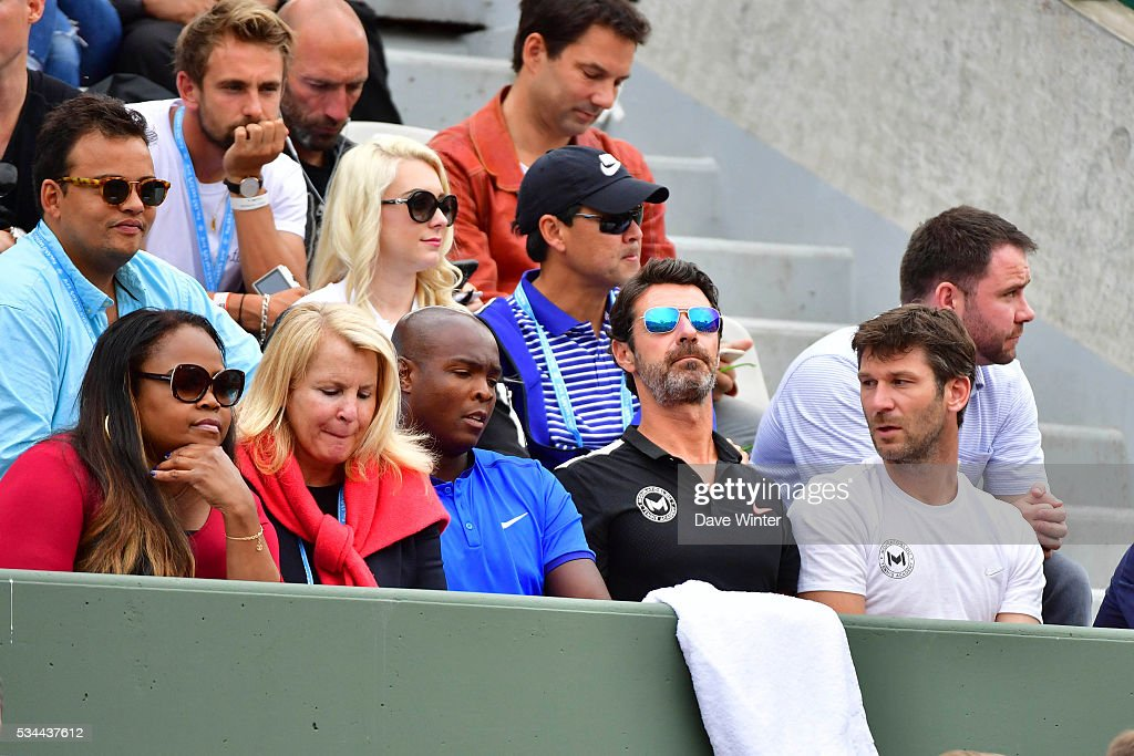 Patrick Mouratoglou, coach of Serena Williams, during the Women's Singles second round on day five of the French Open 2016 at Roland Garros on May 26, 2016 in Paris, France.