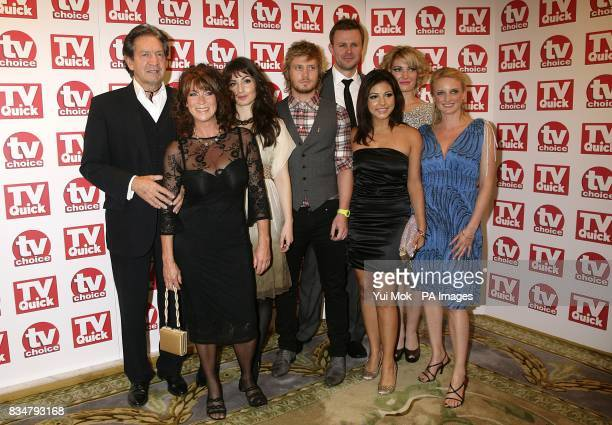 Patrick Mower Deena Payne Matthew Wolfenden Roxanne Pallett Tom Lister Sally Oliver and Nicola Wheeler arrive for the TV Quick and TV Choice awards...