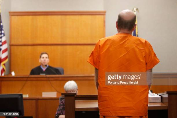 Patrick Murphy addresses Maine District Court judge Jed French at Cumberland County Superior Court in Portland Friday fduring Murphys sentencing...