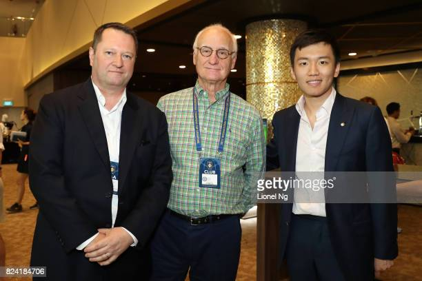 Patrick Murphy CEO Catalyst Media Group Bruce Buck chairman Chelsea FC and Steven Zhang Kangyang board member FC Internazionale at the Corporate...