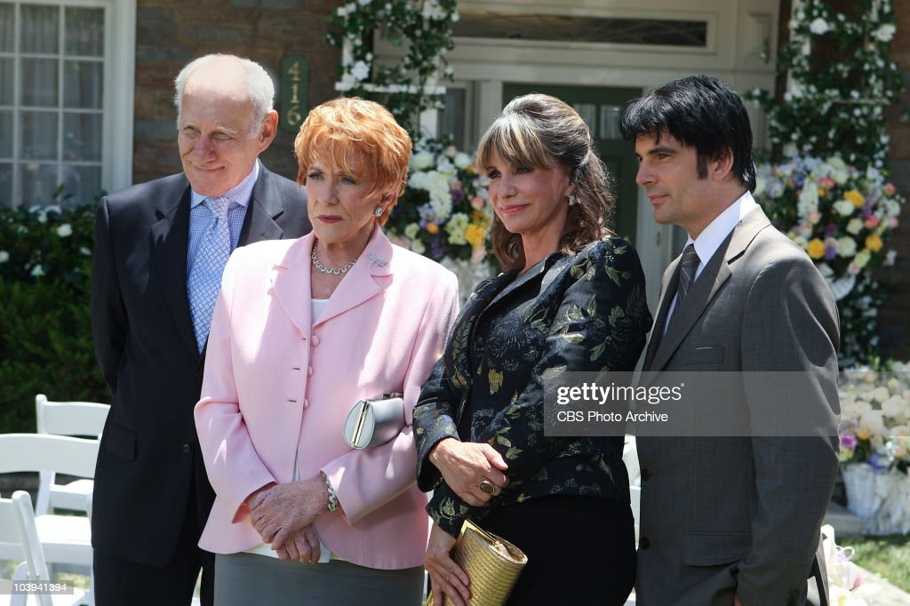 Patrick Murphy (Michael Fairman), from left, Katherine Chancellor (<a gi-track='captionPersonalityLinkClicked' href=/galleries/search?phrase=Jeanne+Cooper&family=editorial&specificpeople=208646 ng-click='$event.stopPropagation()'>Jeanne Cooper</a>), Jill Fenmore (<a gi-track='captionPersonalityLinkClicked' href=/galleries/search?phrase=Jess+Walton&family=editorial&specificpeople=243212 ng-click='$event.stopPropagation()'>Jess Walton</a>) and Phillip Chancellor (Thom Bierdz) attend the wedding of Victoria Newman and Billy Abbott. THE YOUNG AND THE RESTLESS, broadcast weekdays (12:30-1:30 PM; 11:00 AM-12:00 Noon, ET/PT) on the CBS Television.