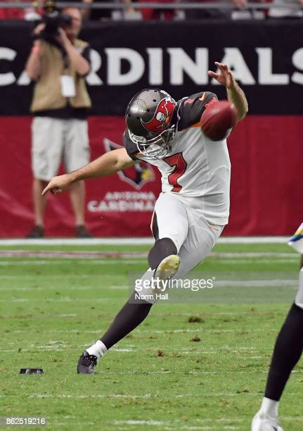 Patrick Murray of the Tampa Bay Buccaneers kicks the ball off during the second half against the Arizona Cardinals at University of Phoenix Stadium...