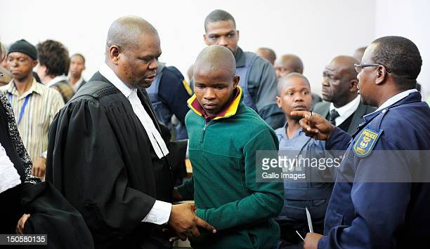 Patrick Ndlovu appears in court for sentencing in connection with the murder of AWB Leader Eugene Terre'blanche on August 22 2012 in Ventersdorp...