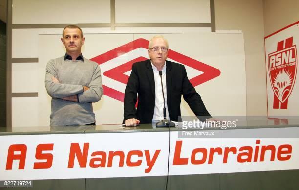 Patrick NOEL France / Jacques ROUSSELOT Signature de l'ASNL avec un nouvel equipementier UMBRO pour la saison 2010/2011 Nancy Stade Marcel Picot