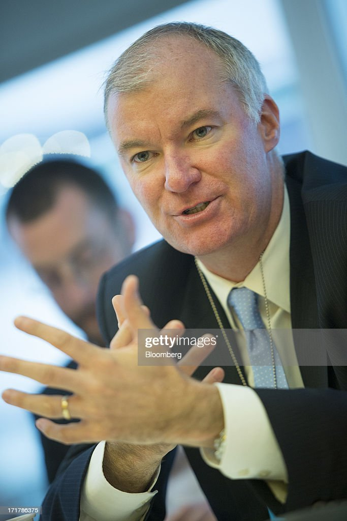 Patrick Nolan, chief executive officer for HSBC Global Banking and Markets in the Americas, speaks during an interview in New York, U.S., on Friday, June 28, 2013. HSBC Holdings Plc, Europe's biggest bank, and Citigroup Inc. won approval from China's securities regulator to sell domestic mutual funds, expanding their scope of financial services in the local market. Photographer: Scott Eells/Bloomberg via Getty Images