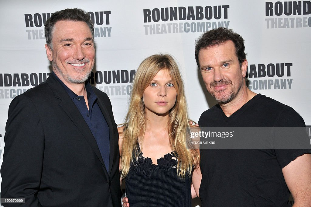 Patrick Page, <a gi-track='captionPersonalityLinkClicked' href=/galleries/search?phrase=Clemence+Poesy&family=editorial&specificpeople=765034 ng-click='$event.stopPropagation()'>Clemence Poesy</a> and <a gi-track='captionPersonalityLinkClicked' href=/galleries/search?phrase=Douglas+Hodge&family=editorial&specificpeople=690764 ng-click='$event.stopPropagation()'>Douglas Hodge</a> attend the 'Cyrano de Bergerac' cast photocall on August 23, 2012 in New York City.