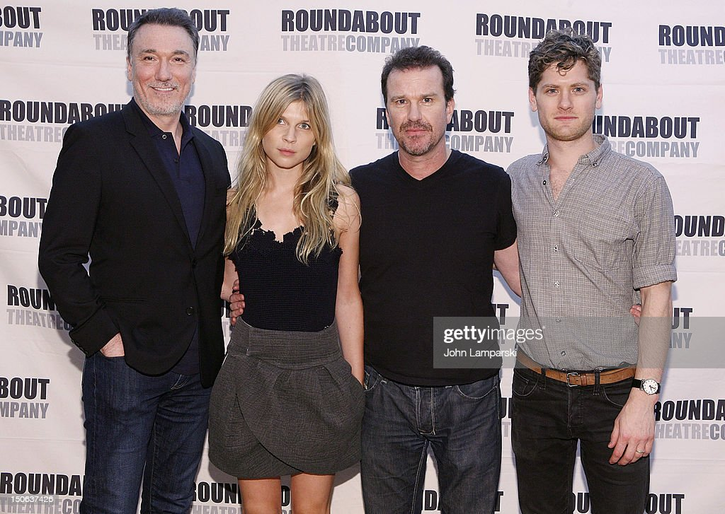 Patrick Page, <a gi-track='captionPersonalityLinkClicked' href=/galleries/search?phrase=Clemence+Poesy&family=editorial&specificpeople=765034 ng-click='$event.stopPropagation()'>Clemence Poesy</a>, <a gi-track='captionPersonalityLinkClicked' href=/galleries/search?phrase=Douglas+Hodge&family=editorial&specificpeople=690764 ng-click='$event.stopPropagation()'>Douglas Hodge</a> and Kyle Soller attend the 'Cyrano de Bergerac' cast photocall on August 23, 2012 in New York City.
