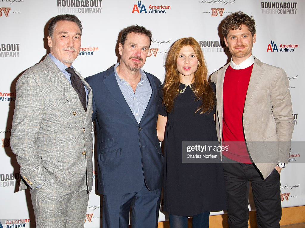 Patrick Page, Douglas Hodge, Clemence Poesy, and Kyle Soller attend 'Cyrano De Bergerac' Broadway Opening Night After Party at American Airlines Theatre on October 11, 2012 in New York City.