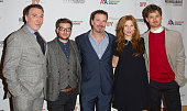 Patrick Page Jamie Lloyd Douglas Hodge Clemence Poesy and Kyle Soller attend 'Cyrano De Bergerac' Broadway Opening Night After Party at American...