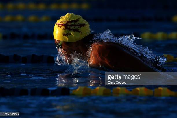 Patrick Park competes in the heat C final of the men's 200 meter butterfly on day three of the Arena Pro Swim Series Mesa at Skyline Aquatic Center...