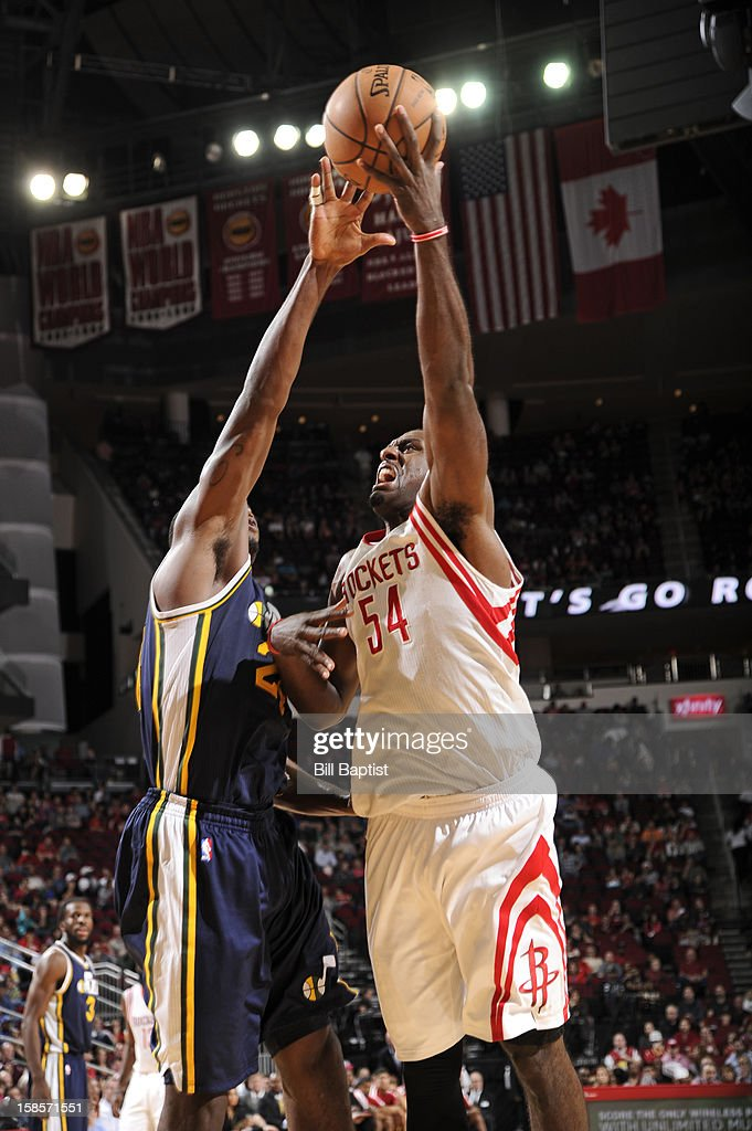 <a gi-track='captionPersonalityLinkClicked' href=/galleries/search?phrase=Patrick+Patterson&family=editorial&specificpeople=2928099 ng-click='$event.stopPropagation()'>Patrick Patterson</a> #54 of the Houston Rockets puts up a shot against the Utah Jazz on December 1, 2012 at the Toyota Center in Houston, Texas.