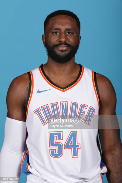 Patrick Patterson of the Oklahoma City Thunder poses for a portrait during 2017 NBA Media Day on September 25 2017 at the Chesapeake Energy Arena in...