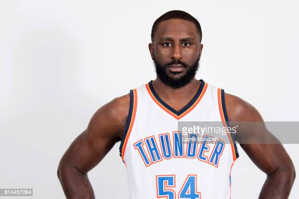 Patrick Patterson of the Oklahoma City Thunder poses for portraits on July 10 2017 at the Thunder practice facility in Oklahoma City Oklahoma NOTE TO...