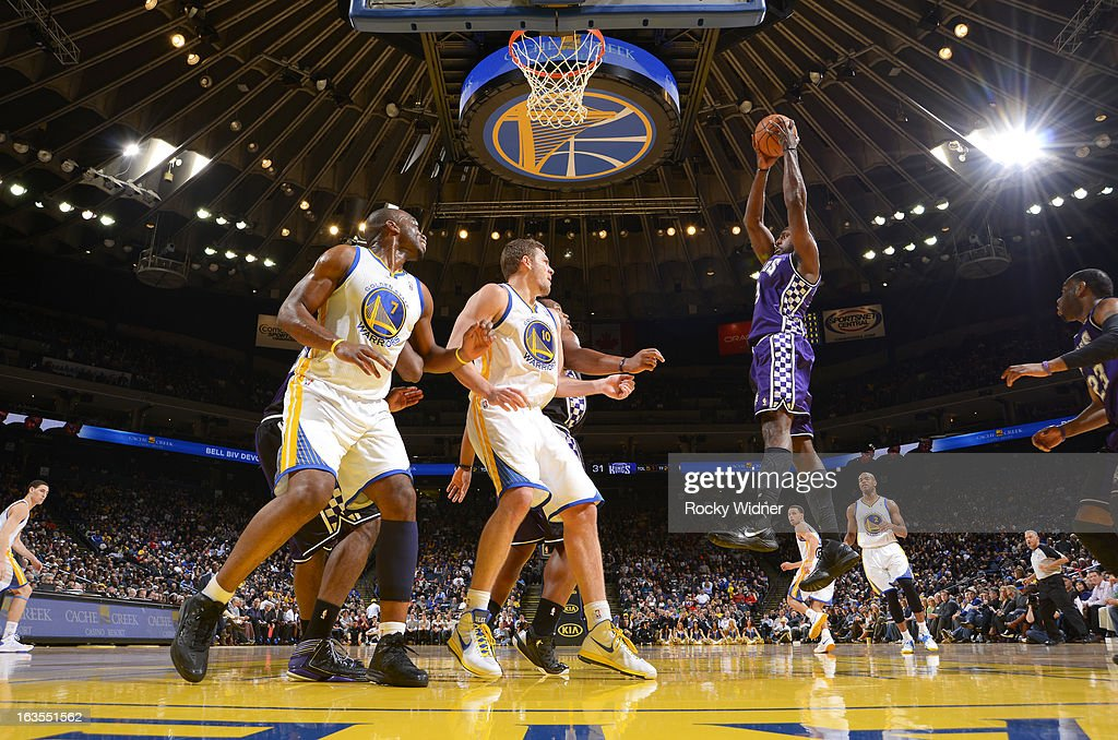 <a gi-track='captionPersonalityLinkClicked' href=/galleries/search?phrase=Patrick+Patterson&family=editorial&specificpeople=2928099 ng-click='$event.stopPropagation()'>Patrick Patterson</a> #9 of the Sacramento Kings rebounds against the Golden State Warriors on March 6, 2013 at Oracle Arena in Oakland, California.