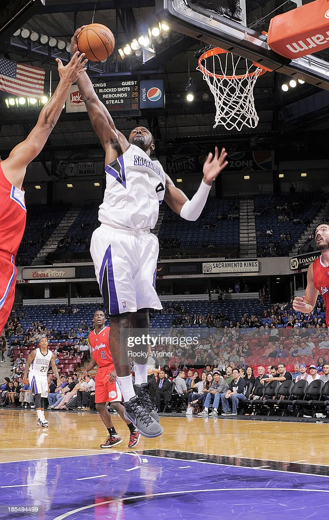 <a gi-track='captionPersonalityLinkClicked' href=/galleries/search?phrase=Patrick+Patterson&family=editorial&specificpeople=2928099 ng-click='$event.stopPropagation()'>Patrick Patterson</a> #9 of the Sacramento Kings rebounds against the Los Angeles Clippers on October 14, 2013 at Sleep Train Arena in Sacramento, California.