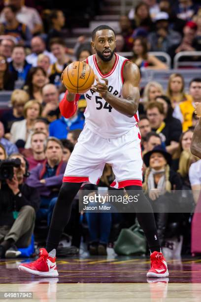 Patrick Patterson of the Toronto Raptors drives down court during the second half against the Cleveland Cavaliers at Quicken Loans Arena on November...