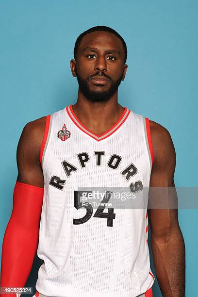 Patrick Patterson of the Toronto Raptors poses for a photo during media day on September 28 at the Air Canada Centre in Toronto Ontario Canada NOTE...