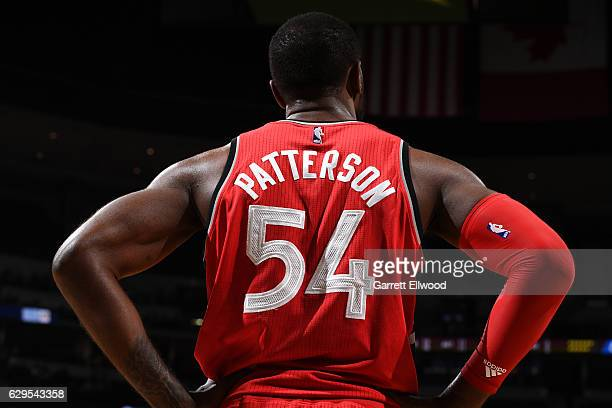 Patrick Patterson of the Toronto Raptorss stands on the court during a game against the Denver Nuggets on November 18 2016 at the Pepsi Center in...