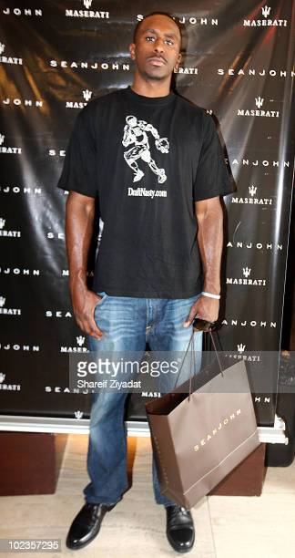 Patrick Patterson visits the Sean John Store on June 23 2010 in New York City