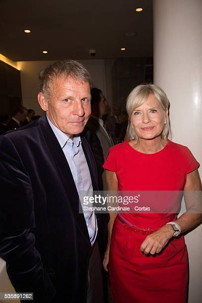 Patrick Poivre D'Arvor and Catherine Ceylac attend the Grand Opening Sofitel Paris Arc de Triomphe in Paris