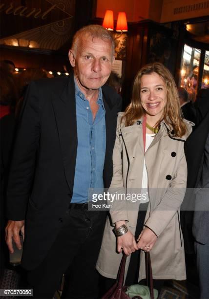 Patrick Poivre d'Arvor and Closerie des Lilas 2017 awarded Writer Oriane Jeancourt Galignani for her novel 'Hadamar' attend 'La Closerie Des Lilas'...