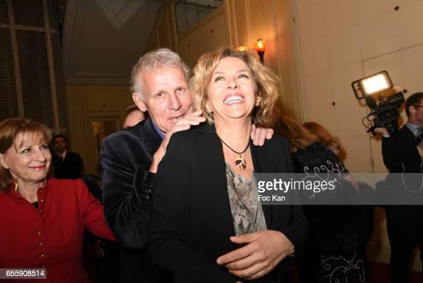 Patrick Poivre d'Arvor and Corinne Touzet attend 'Gala D'Enfance Majuscule 2017' Charity Gala At Salle Gaveau on March 20 2017 in Paris France