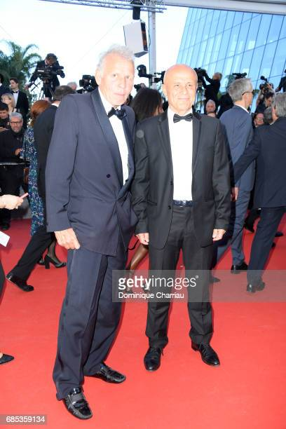 Patrick Poivre d'Arvor and Olivier Poivre d'Arvor attend the 'Okja' screening during the 70th annual Cannes Film Festival at Palais des Festivals on...
