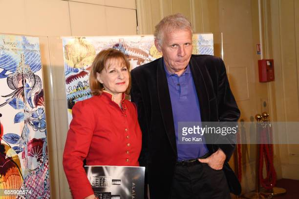 Patrick Poivre d'Arvor and Patricia Chalon attend 'Gala D'Enfance Majuscule 2017' Charity Gala At Salle Gaveau on March 20 2017 in Paris France