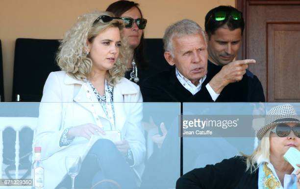 Patrick Poivre d'Arvor attends day 6 of the MonteCarlo Rolex Masters an ATP Tour Masters Series 1000 on the clay courts of the MonteCarlo Country...