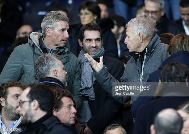 Patrick Poivre d'Arvor attends the French Ligue 1 match between Paris Saint Germain and OGC Nice at Parc des Princes stadium on December 11 2016 in...