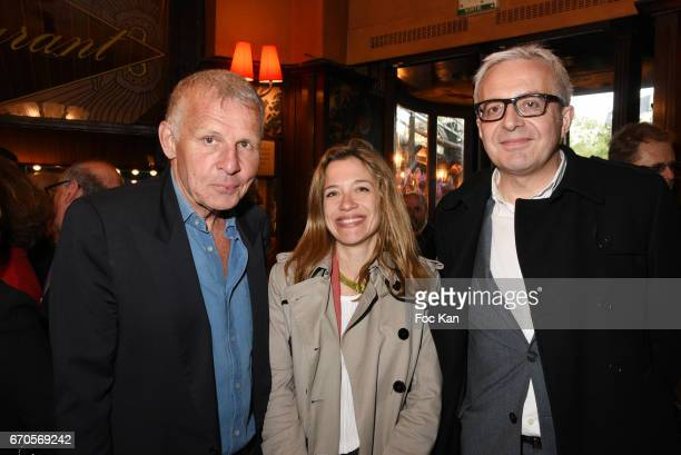 Patrick Poivre d'Arvor Closerie des Lilas 2017 awarded Writer Oriane Jeancourt Galignani for her novel 'Hadamar' and her publisher from Grasset...