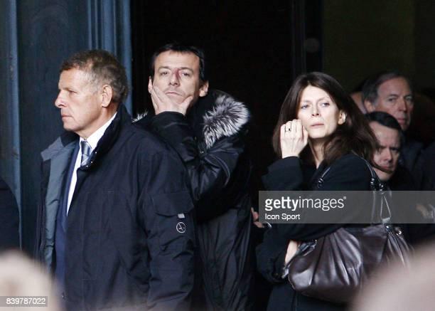 Patrick Poivre d'ARVOR / Jean Luc REICHMANN / Magalie LUNEL Enterrement de Thierry GILARDI Monfort l ' Amaury