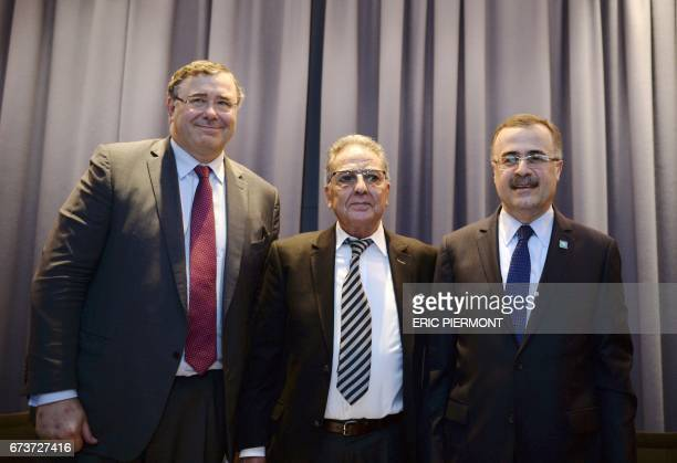 Patrick Pouyanne Chairman and CEO of French energy company Total Nordine AitLaoussine President of Nalcosa energy consulting firm and former Algerian...