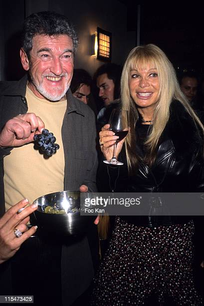 Patrick Prejean and Lova Moor during Le Neuf Restaurant New Decor Reopening Party at Restaurant Le Neuf in Paris France